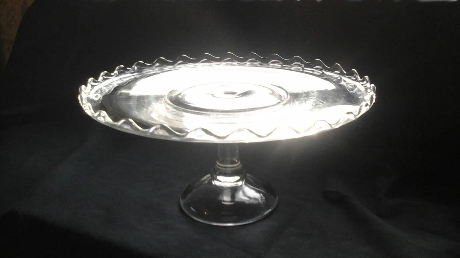 Scalloped Edge Cake Stand Vintage