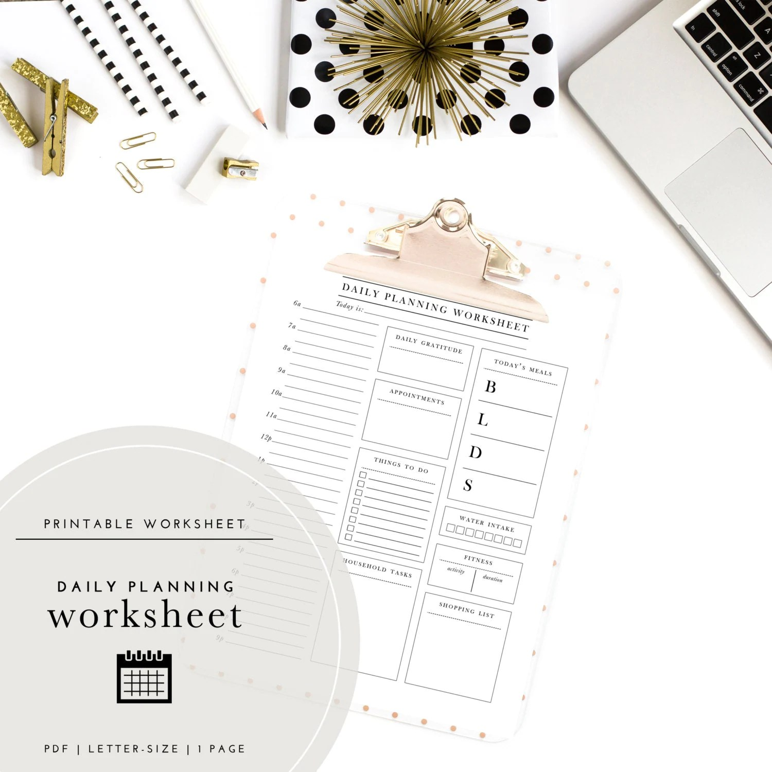 The Ultimate Daily Planning Worksheet A Printable Planner