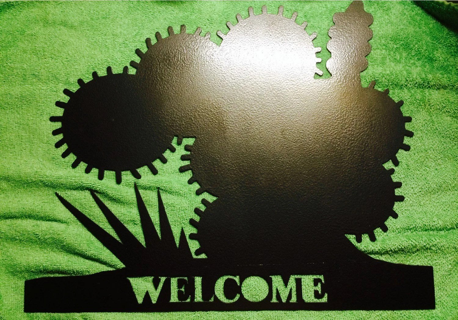 Items Similar To Cactus Welcome Sign/cactus/great Metal