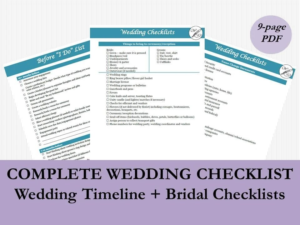 Wedding Planning Timeline Template Wedding Checklist