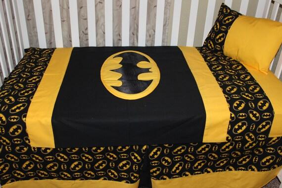 5pc Batman Crib Set by DeltaAnnsCreations