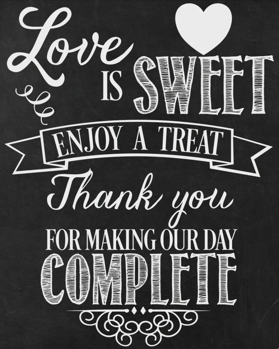 Download Love Is Sweet...Enjoy A Treat Wedding Printable / by ...