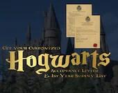 Customized Hogwarts Accep...