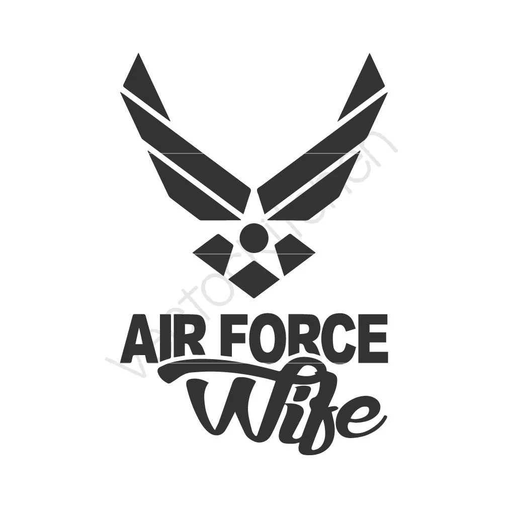 Download Air Force Wife Cutting Template SVG EPS Silhouette DIY ...