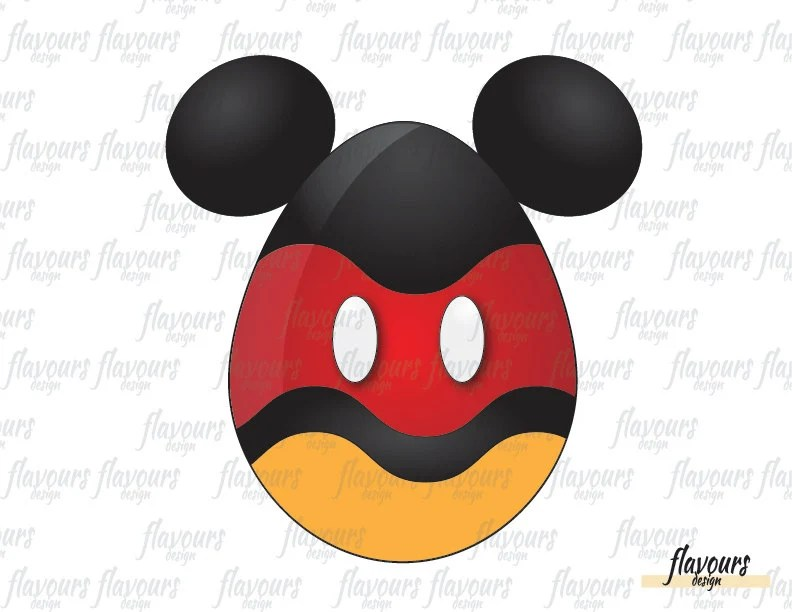 Mickey Mouse Easter Egg INSTANT DOWNLOAD Digital Clip Art