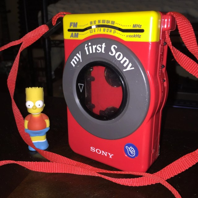 My First Sony WM-F3030 Red Vintage Retro Walkman Cassette Tape Player & AM/FM Radio // Analog Digital vibes kush vaporwave