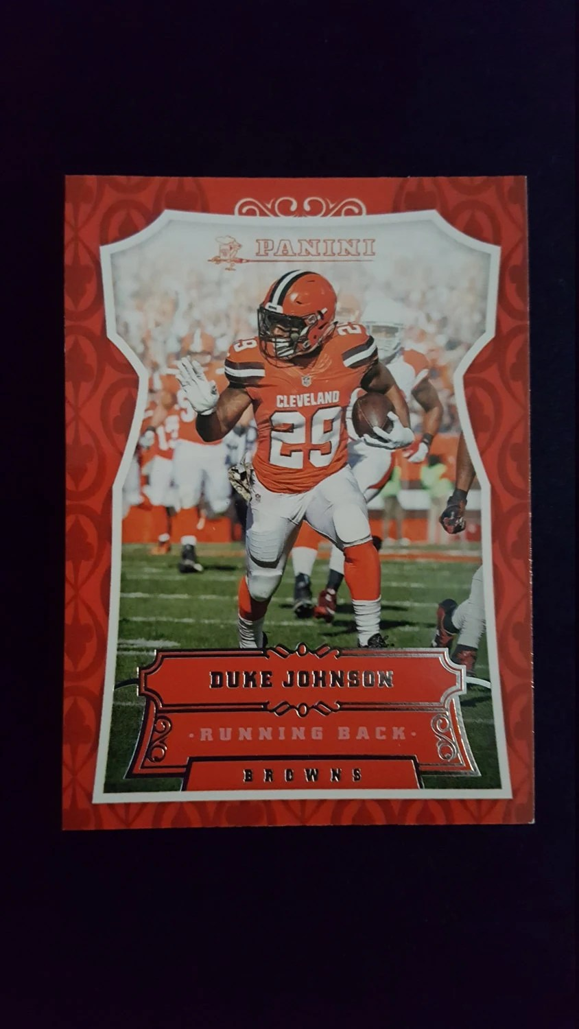 Cleveland Browns Birthday Card Featuring Duke Johnson On A