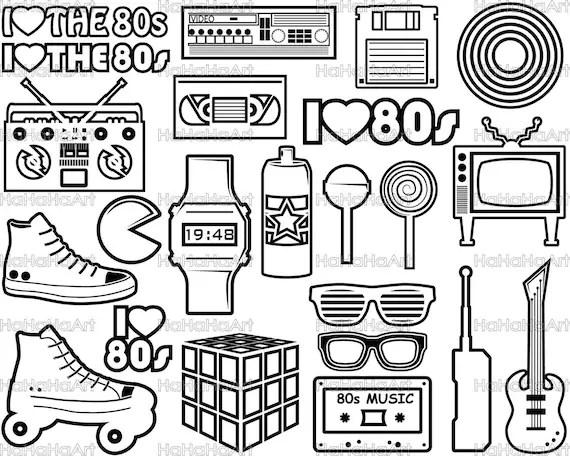 Download I Love The 80s V2 Monogram Cutting Files Svg Png Jpg Eps Dxf