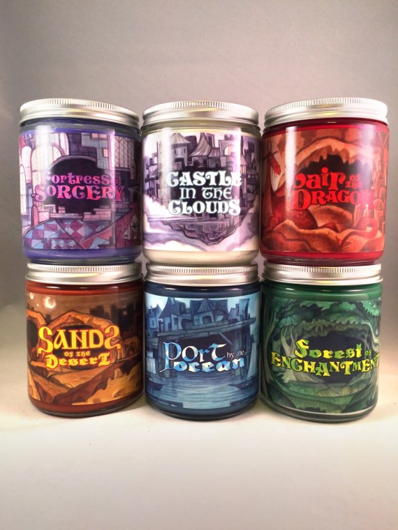 gaming dice candle