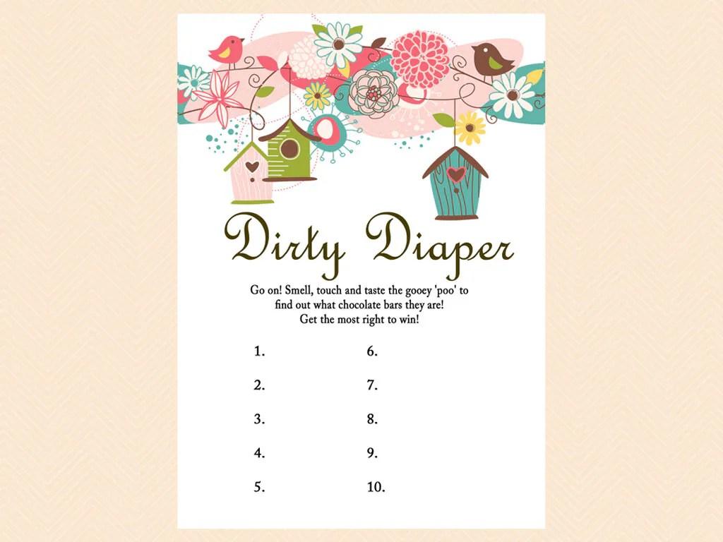 Dirty Diaper Game Name That Poo Chocolate Bar Game Bird