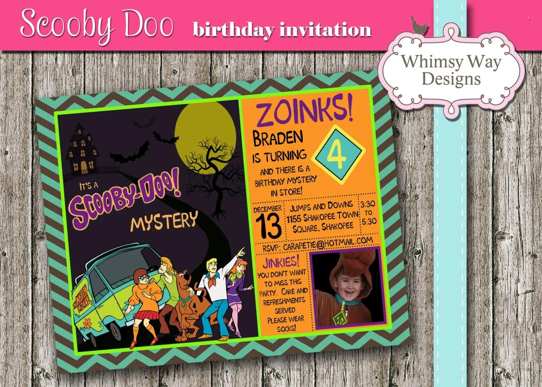 Scooby Doo Birthday Invitation Printable Mystery Party