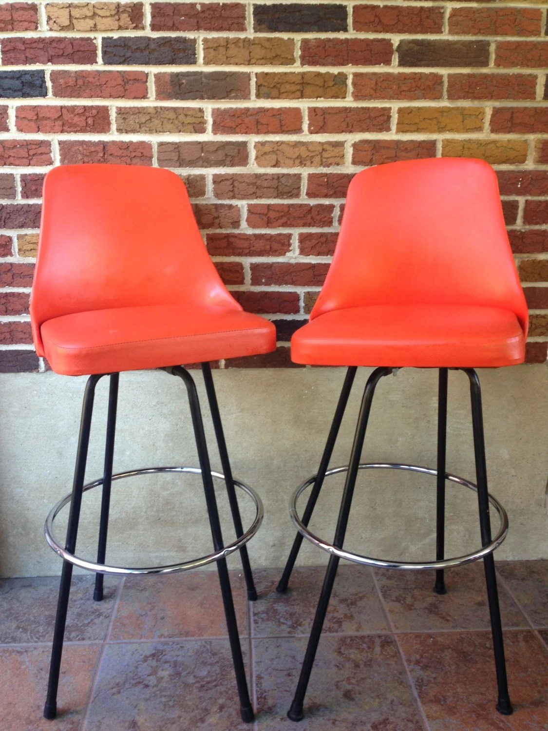 groovy pair of cosco swivel chairs kitchen chairs bar