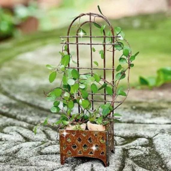 fairy garden trellises Miniature trellis planter fairy garden trellis fairy garden
