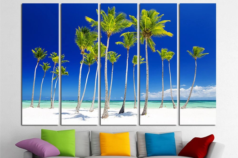 Palm Trees Canvas Wall Decor Palm Trees Large Wall Art Canvas