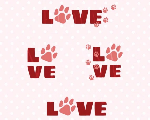 Download Love Pets SVG Cat SVG Dog svg Pet svg Love svg puppy love svg