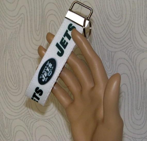 Key fob, key wristlet,key holder, keys, key chain, key holder, keys, house keys, house key holder, NFL New York Jets