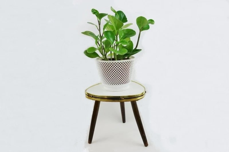 Mid century german small tripod plant table stand haute - Petite table haute ...