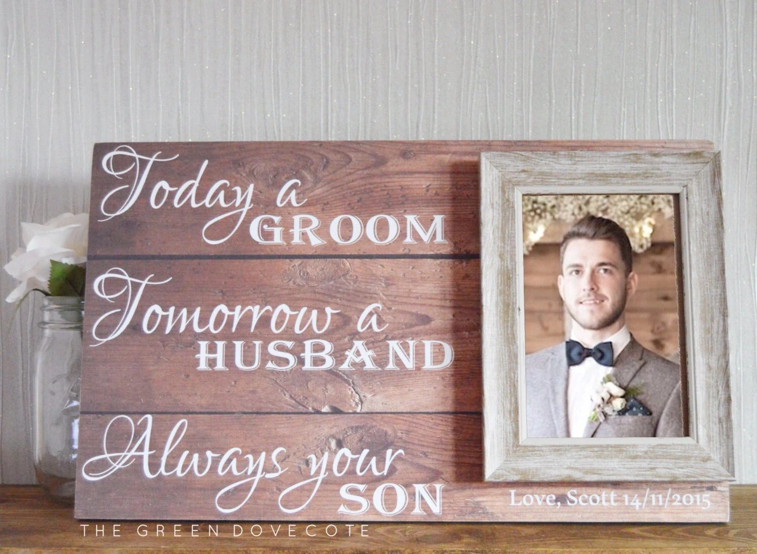 Gift For Grooms Parents Thank You Wedding Gift Parents Of