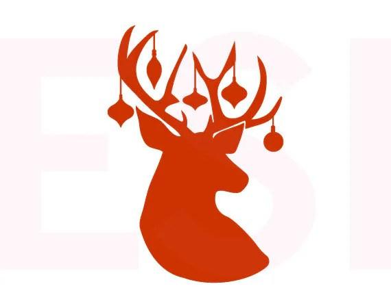 Download Reindeer svg, with ornaments, SVG, DXF, EPS, Christmas svg ...
