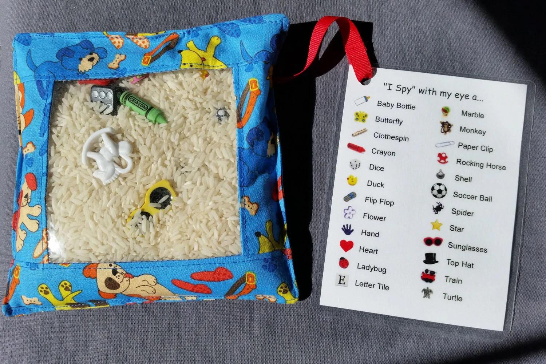 I Spy Bag Discovery Bag Busy Bag Sensory Bag Fidget Bag Eye