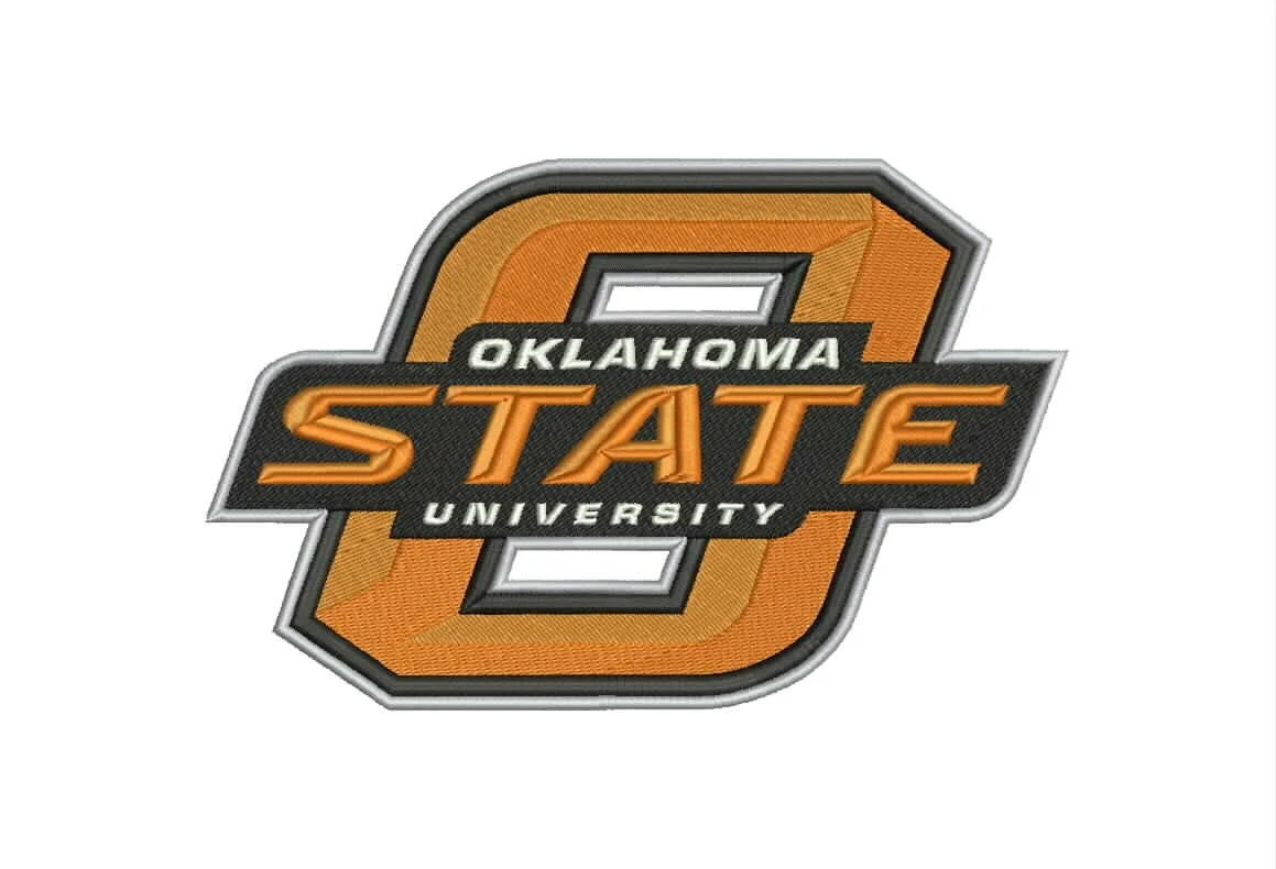 Oklahoma State Cowboys Logo Machine Embroidery By Moreusemb