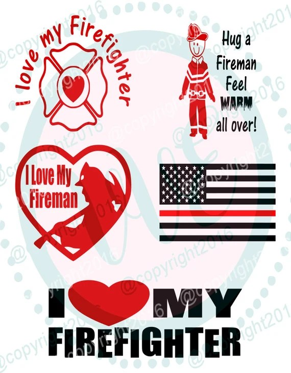 Download Fireman Firemen Love Collection 1 svg dxf png by ...