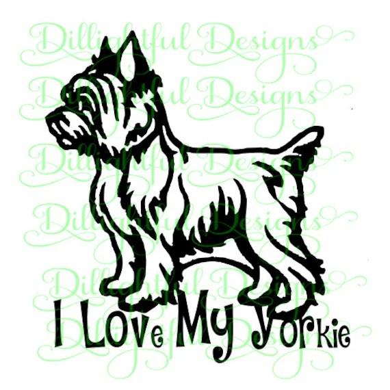 Download SPECIAL Yorkie SVG Yorkie Cricut Yorkshire Terrier Digital