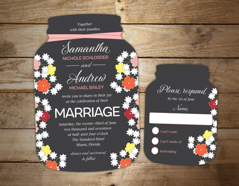 Pre Cut Wedding Invitations