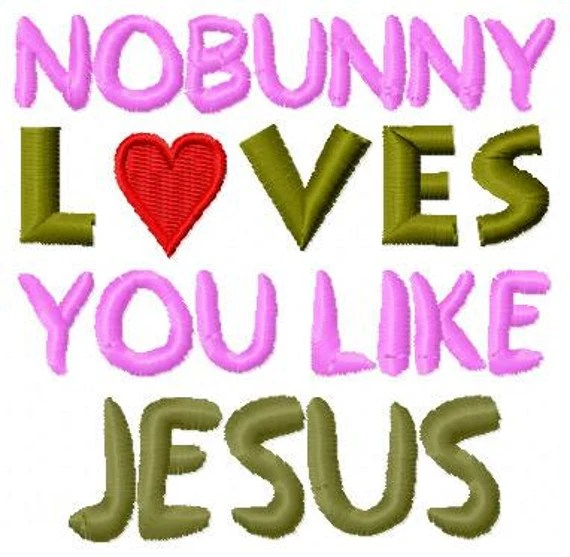 Download Items similar to Embroidery Design: No Bunny Loves You ...