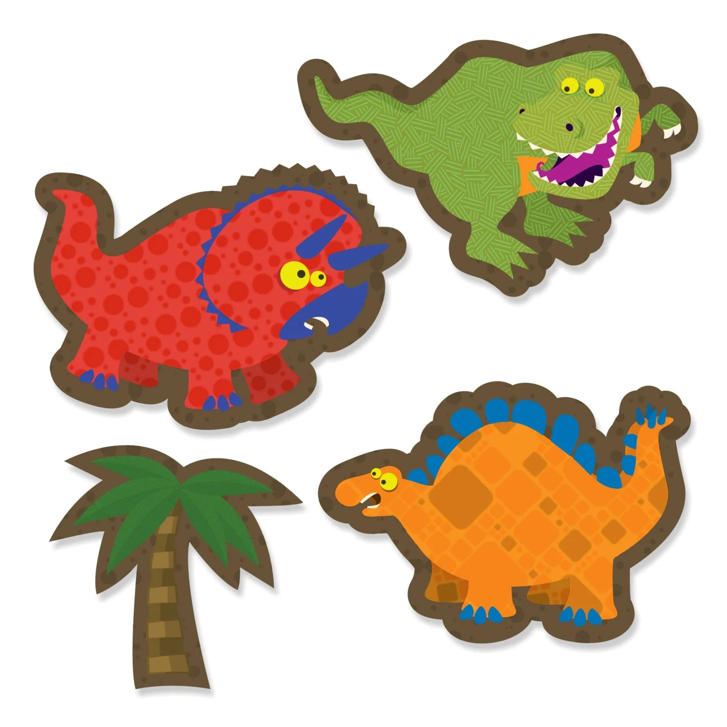 24 Pc Small Dinosaur Paper Cut Outs Birthday Party Cut