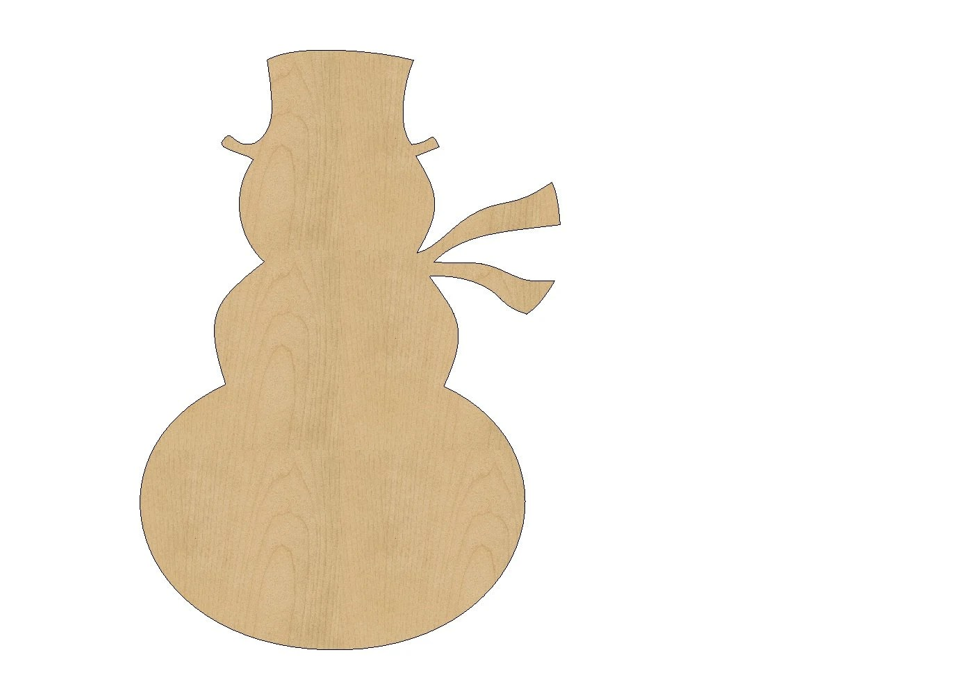 Snowman Cutout Shape Laser Cut Unfinished Wood Shapes Craft
