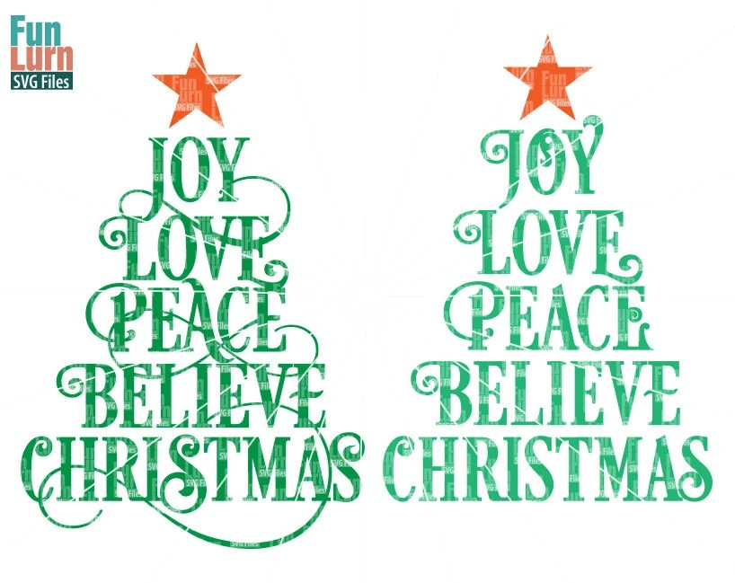 Download Joy Love Peace Believe Christmas SVG Christmas SVG