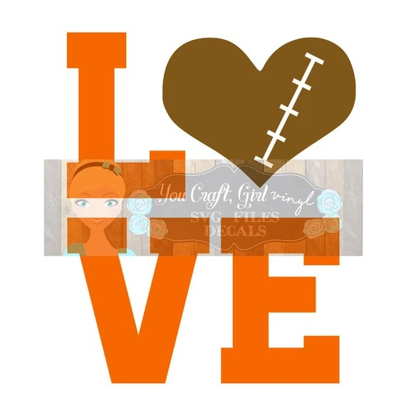 Download Love Football Svg Dxf Png Pdf Zip File Commercial Use SVG