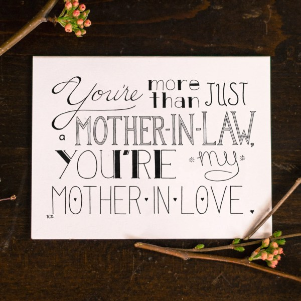 Mother in law card – Etsy