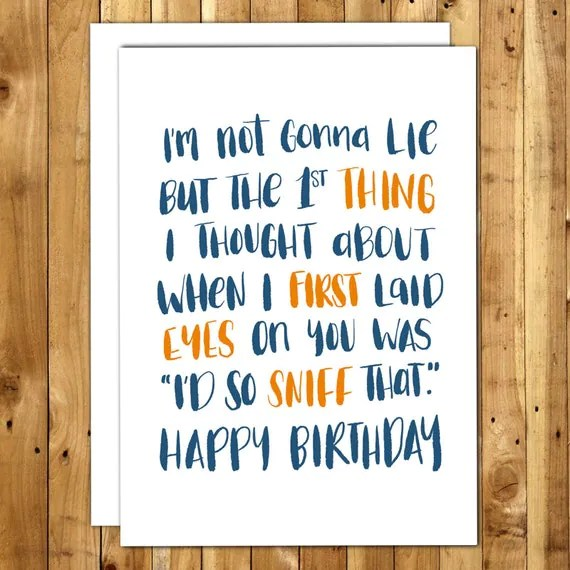 Items Similar To Birthday Card Boyfriend Birthday Card