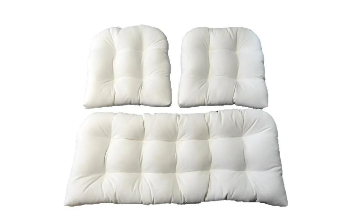 Indoor / Outdoor Wicker Cushion 3 Pc. Set Sunbrella Canvas