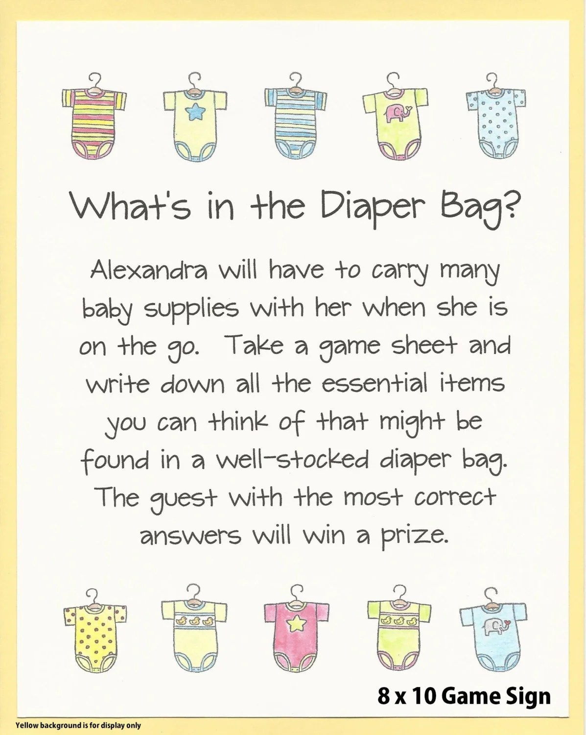 Baby Shower Diaper Game