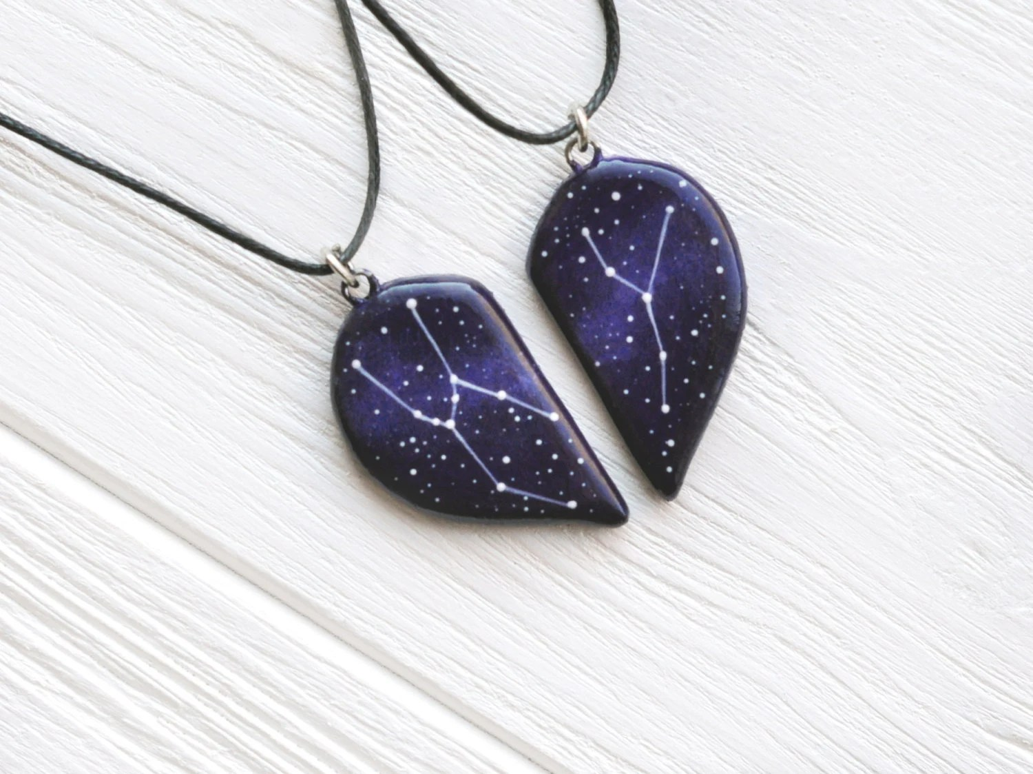 Half Heart Necklace Big Dipper Pendant Little Gift Two Hearts