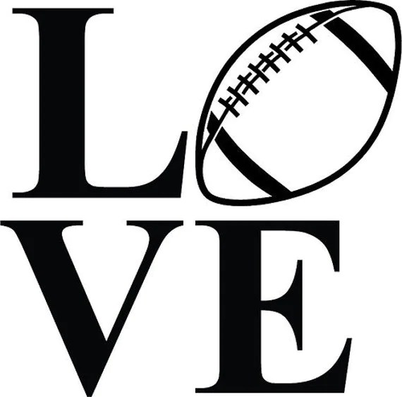 Download Football Love Decals by SissysEmporium on Etsy