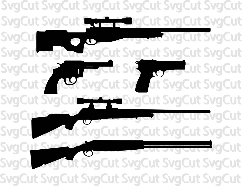 Guns Svg Pack Guns Clipart Vector Digital Download Guns