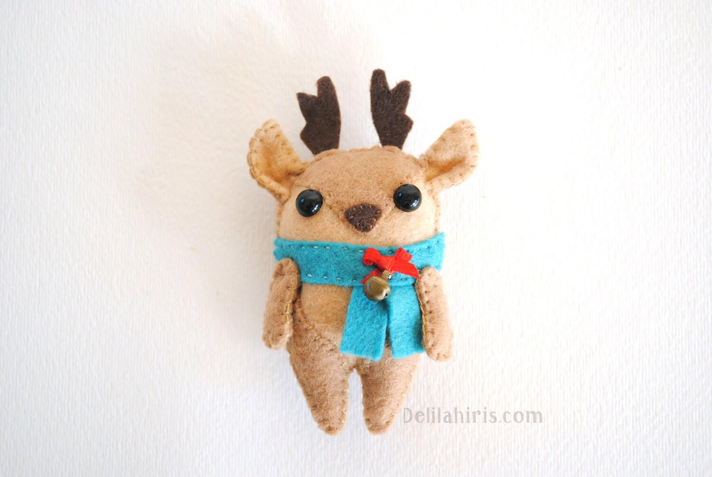 Reindeer Felt Ornament Pattern Printable Sewing By Delilahiris