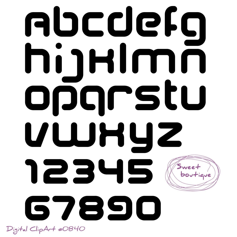 Black Digital Alphabet Alphabet Black Font Clip Art Digital