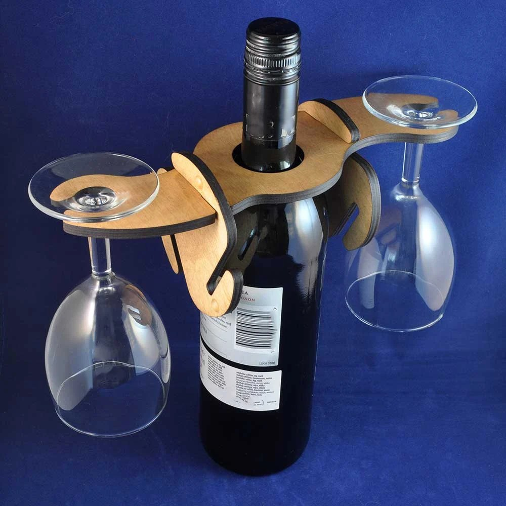 Wooden Wine Glass Holder ...