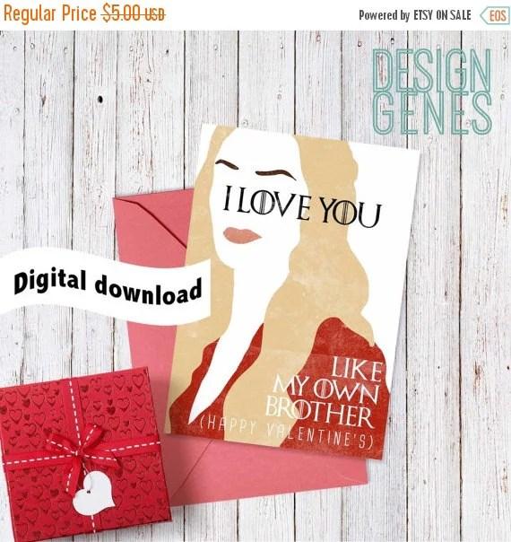 flash sale printable game of thrones valentine's card