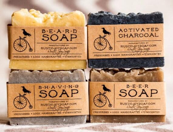 Gift for Men Soap - Luxury Mens Soap Set - 4 soaps,homemade soap,handmade soap,vegan soap,skin care soap,boyfriend gift.