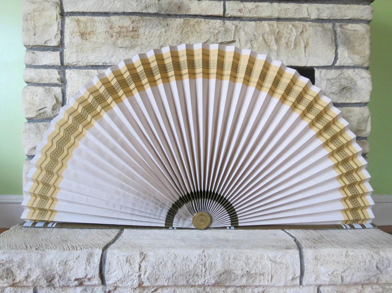 Vintage Fireplace Fan // Decorative Paper Fireplace Screen Or