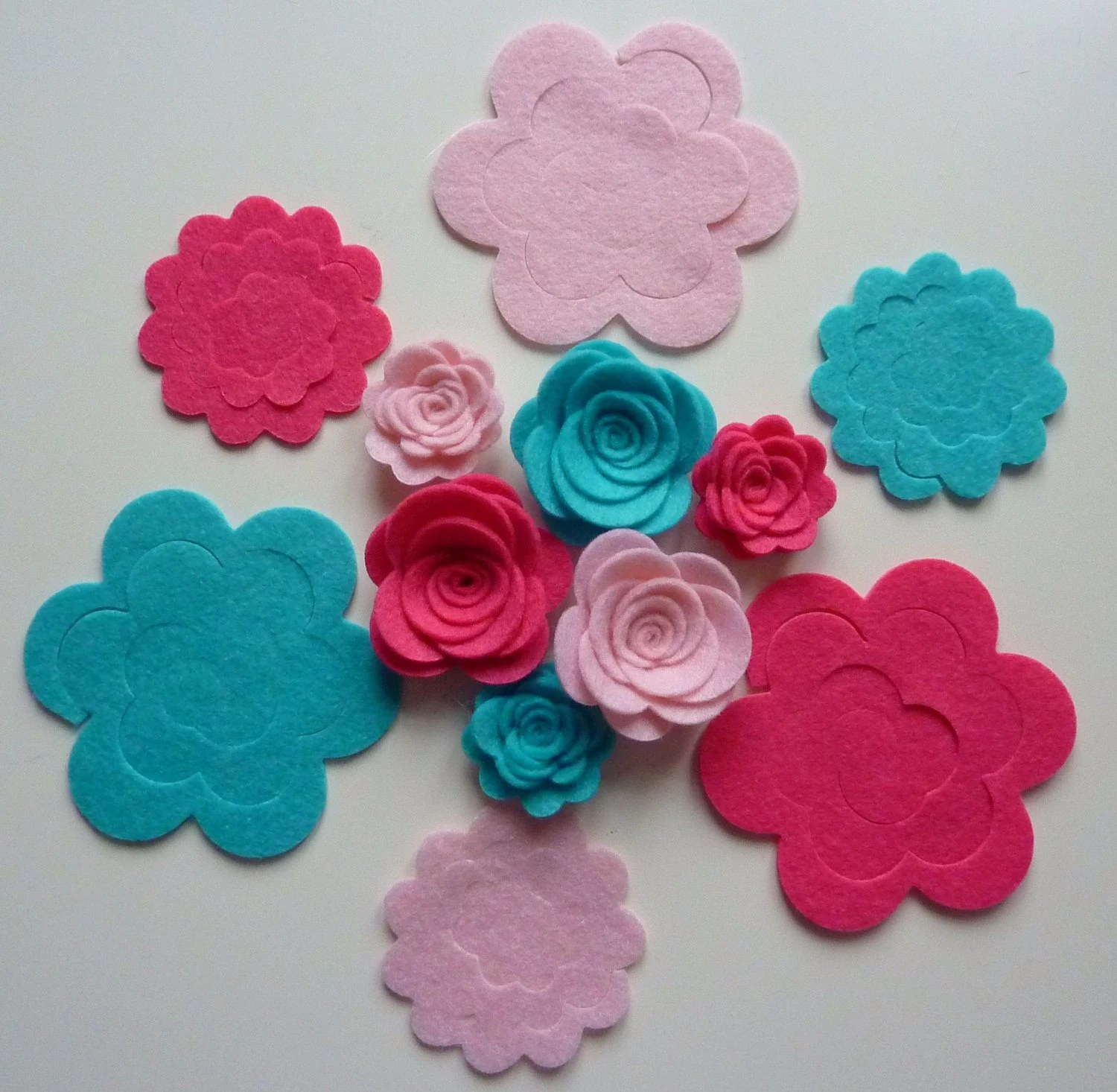 Diy Make Your Own Felt 3d Flowers Roses Felt Flower Crown