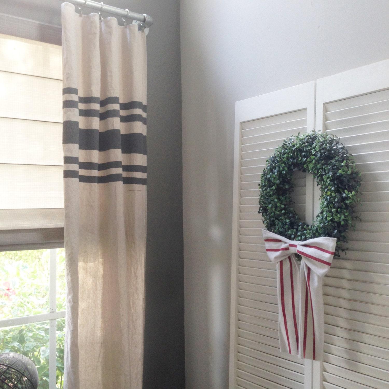 Curtains Farmhouse Curtains Grain Sack Drop Cloth Rustic on Farmhouse Bedroom Curtain Ideas  id=25363