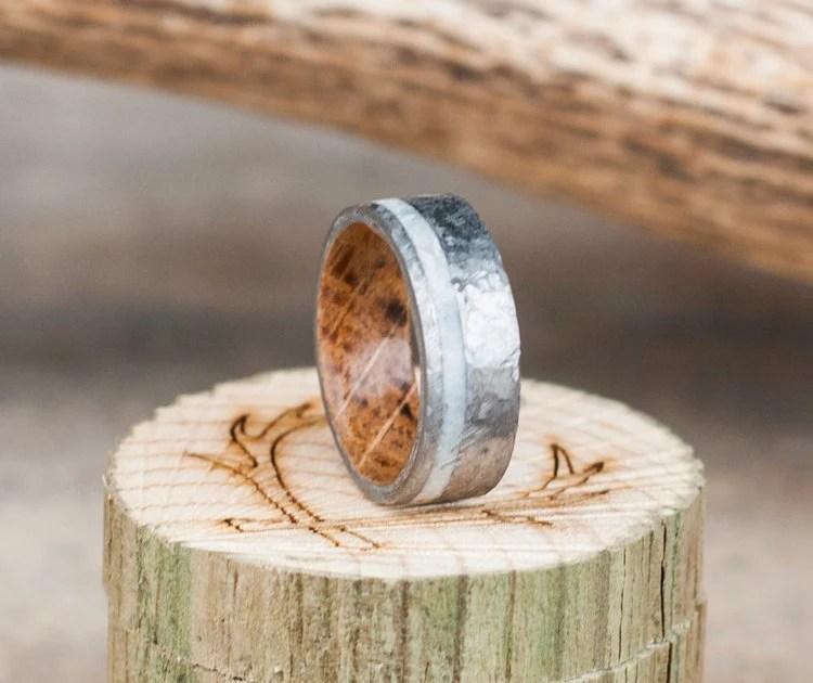 Elk Antler Wedding Band