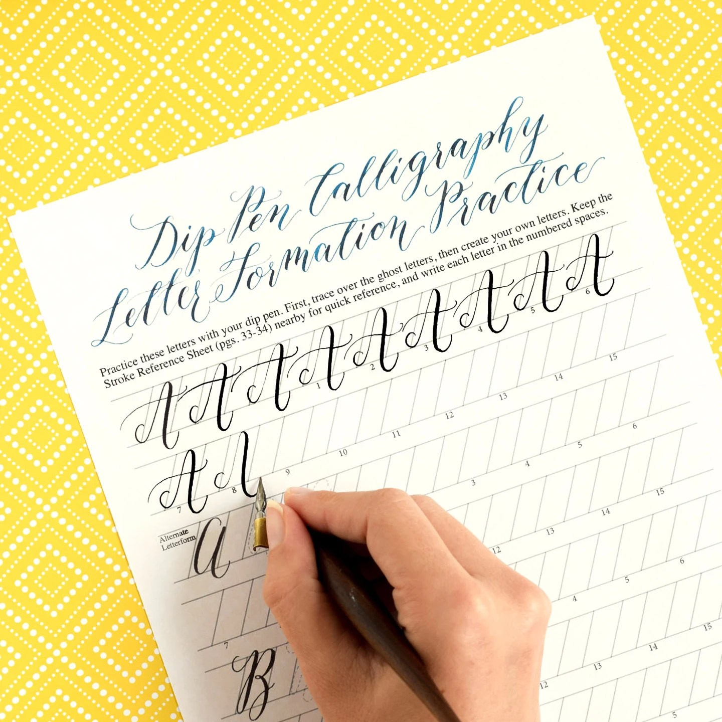 Printable Calligraphy Worksheets Kaitlin Style Learn Calligraphy